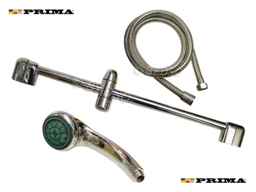 Prima Shower Riser Bar Set Complete with Shower Head and Hose 23152C