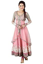 Varibha Women's Branded Indian Style Georgette Pink Salwar Suit Dress Material ( Best Gift For Mom, Wife, Sister )