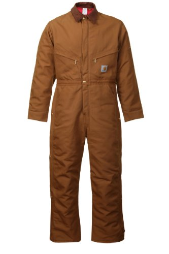 Carhartt Quilt Lined Coveralls Mens Duck Bib Overall for Work