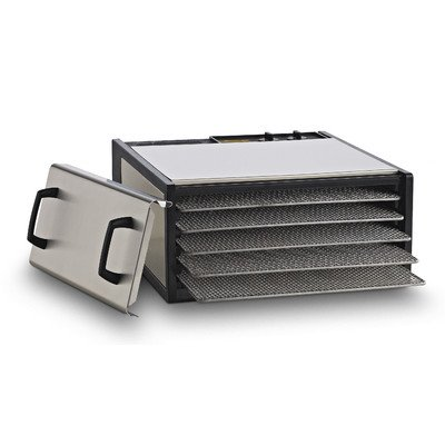 Excalibur 5-Tray Stainless Steel w/StainlessTrays Model D500SHD (Excalibur Stainless Steel compare prices)