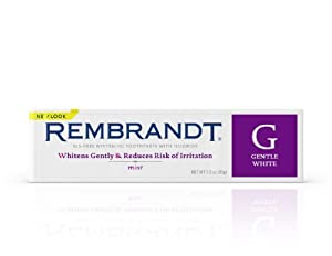 REMBRANDT GENTLE WHITE Toothpaste (formerly Canker Sore) - 3 Ounces  (Pack of 3)