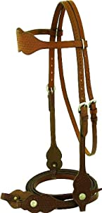 Abetta Nylon Halter w/Oak Leaf-Tooled Leather Noseband