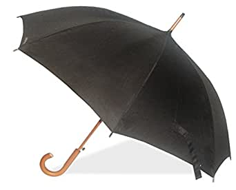 London Fog Luggage Auto Stick Umbrella, Black, One Size