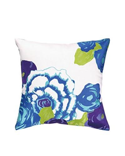 Nanette Lepore Villa Pop Bouquet Embroidered Pillow, Blue