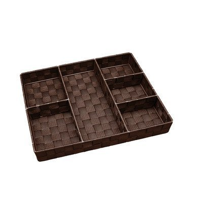 6-compartment-woven-strap-drawer-organizer-color-chocolate-by-simplify
