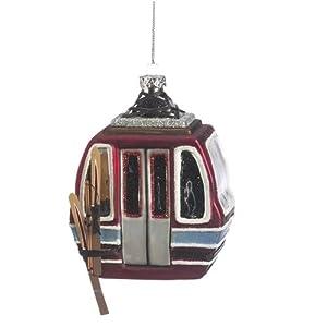 Glass Gondola Christmas Ornament