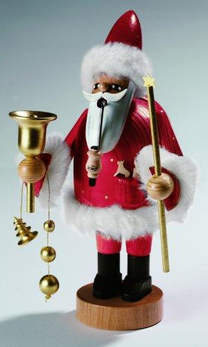 KWO Olbernhau 21264 - Figura de Papá Noel fumando (tamaño grande, 37 cm)