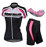 HOT!! 2014 New SANTIC Women's Outdoor Cycling Jersey + Shorts with 4D Padded