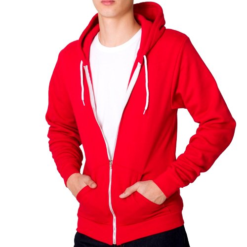 Raiken Apparel Flex Fleece Full Zip Hoody Hooded Top Mens Size XL - Red