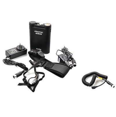 Godox External Flash Speedlite Power Battery Pack for Canon 580EX2,430EZ,540EZ,550EX,580EX,580EX II Nikon SB900, Sony HVL-F58AM,Olympus FL-50R,Metz,Nissin,Quantum + Flash Battery Cable-Black