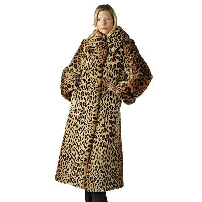 Buy Pamela McCoy Shawl Collar Leopard-Print Faux Fur Coat