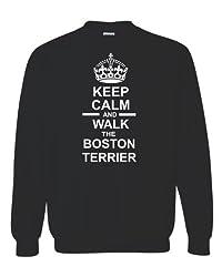Keep Calm & Walk The Boston Terrier Unisex Sweatshirt Jumper