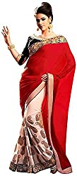 Lizel Fashion Women's Georgette Saree (Bollywood532)