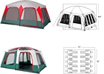 GigaTent Mt Craylock 8-10 Sleeper Family Dome Tent (15-Feet x 10-Feet x 75-Inch)