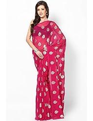 Rajasthani Sarees Ethnicwear Chiffon Foil Print Saree For Women (RS23)