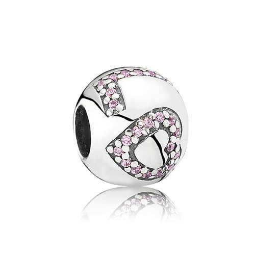 Pandora Surrounded by Love with Pink Cubic Zirconia in 925 Sterling Silver