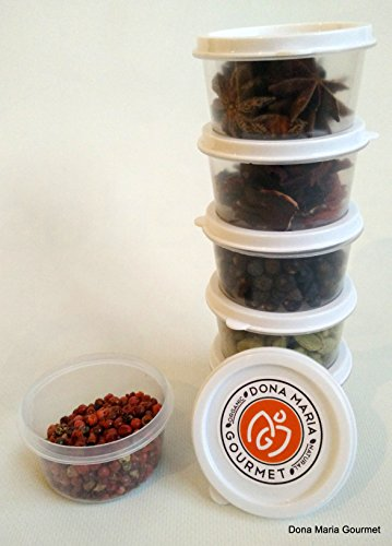 Gin and Tonic 4 Spices Value Pack Refills Kit Gin Flavoring Spices Botanicals Juniper Berries, Cardamom, Star Anise, Rose Petals (Gin Making compare prices)