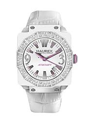 Haurex Italy Women's 8W372DWW Athenum Aluminum And White PVD Swarovski Crystal Watch