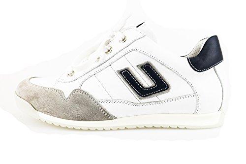 CESARE PACIOTTI 4 US sneakers bambino 34 EU bianco grigio pelle camoscio AH952