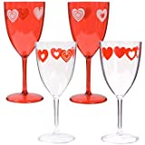 Valentine's Day / Hearts Disposable Goblets/Wine glasses