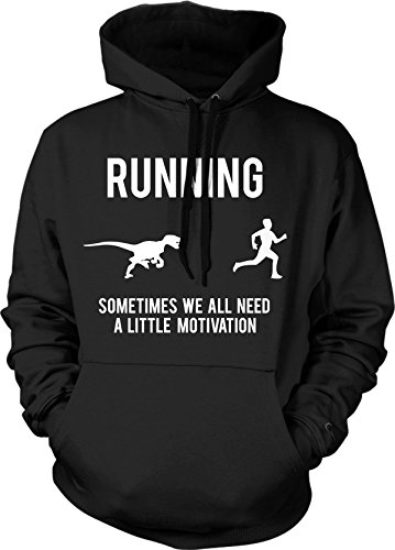 Running Motivation Raptor Hoodie Funny Dinosaur Sweatshirt Ford Runners L