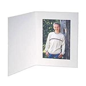 Contemporary White Portrait Folders For 8.5x11 Photos or Documents (25 Pack)