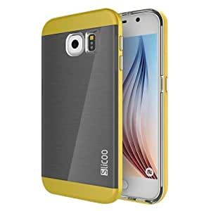 Slicoo Brushed Texture Electroplating Combination Case for Samsung Galaxy S6 / G920(Yellow)