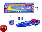 Dickie 203089554 Batman RC Speed Boat 2 canali 27 + 40 MHz, 34cm- Barca telecomandata, portata 15 metri