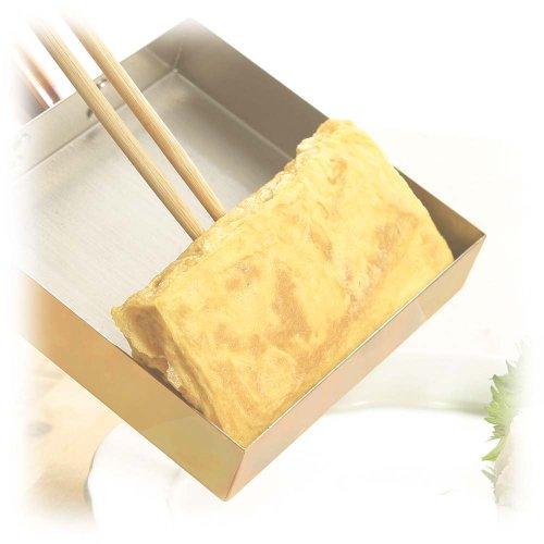 銅製調理道具 本職用玉子焼き 18cm(木蓋付) CNE117