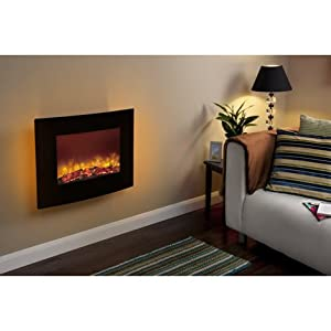 Electric Wall Fire   Be Modern Quattro 635mm   Curved Black with LED Backlight       Customer reviews and more description