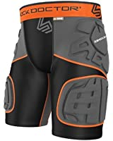 Shock Doctor Men's Ultra Shockskin 5-Pad Extended Thigh Impact Shorts