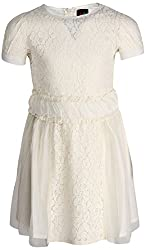 Herberto Girls' Party and Evening Dress (HRBT-DRESS010-1_White_3 - 4 years)