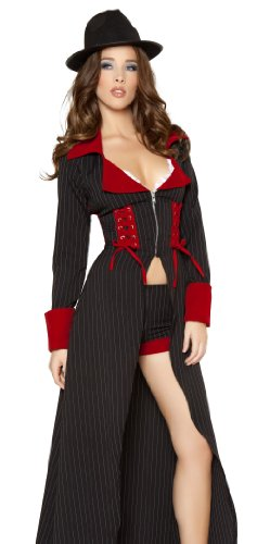 Roma Sexy Womens Gangster Mafia Mob Halloween Costume