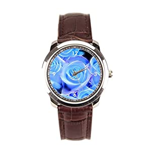 sanYout Mens Leather Band Watches Graphic Wrist Watch Band Nature Leather Straps For Watches Blossom