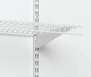 ClosetMaid 2854 ShelfTrack Locking Shelf Bracket, 16-Inch, White