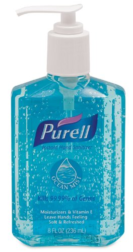41x%2BRBBoiKL GO JO INDUSTRIES PURELL Ocean Mist Instant Hand Sanitizer, Cucumber Melon, 8oz. Pump Bottle, Blue