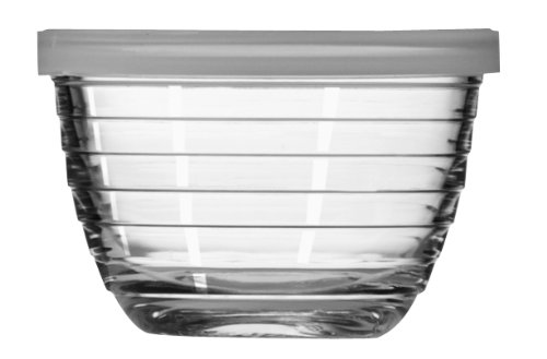 Libbey 6-1/2-Ounce Small Bowl with Plastic Lid, Set of 12 (Glass Prep Bowls Small compare prices)