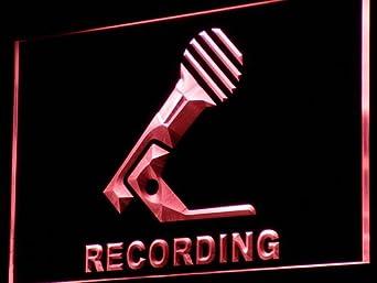 ADV PRO i799-r Recording Microphone On Air NEW Neon Light Sign Barlicht Neonlicht Lichtwerbung