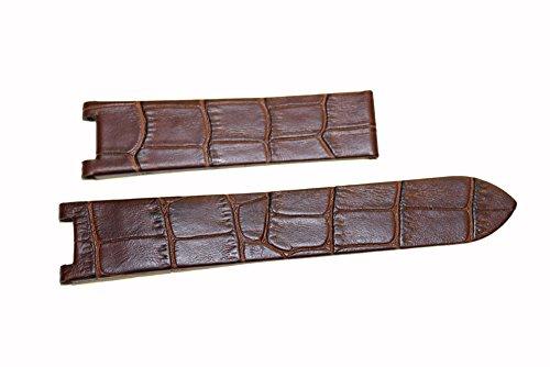 High Quality Brown Genuine Leather Watch Band Strap For Pasha De Cartier