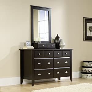 shoal creek dresser mirror set in jamocha wood finish kitchen dining. Black Bedroom Furniture Sets. Home Design Ideas