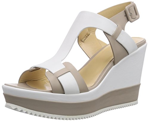 Samsonite Shoes CAPRI SANDAL 1586 LEATHER/LEATHER GREY/WHITE, Sandali donna, Multicolore (Mehrfarbig (GREY/WHITE)), 38