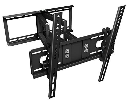 """Details for Ricoo ® TV Wandhalterung R28 Schwenkbar Doppelarm Plasma LCD LED Wandhalter für Fernseher mit ca. 76 - 165cm (30""""-65"""") VESA max. 400x400 universell passend fuer alle TV-Hersteller *** Wandabstand nur 100 mm ***"""