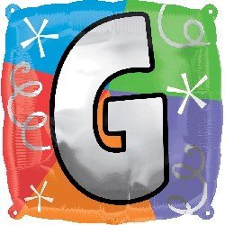 "Anagram International Letter G Quad Package Balloon, 18"", NA"
