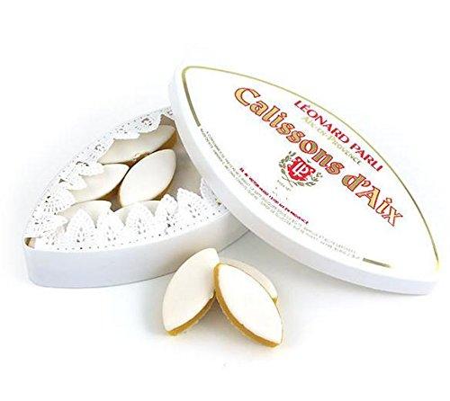 Calissons d'aix Léonard Parli - boite traditionnelle de 500 grammes (soit 44 calissons)