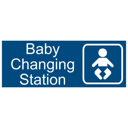 Compliancesigns Engraved Acrylic Unisex / Family / Assisted Sign, 8 X 3 In. With English And Symbol, Blue front-129279