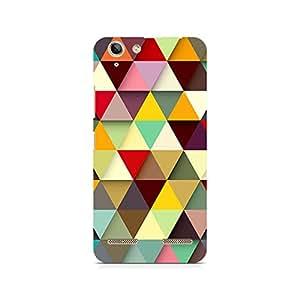 Ebby Multicolored Triangles Premium Printed Case For Lenovo K5 Plus