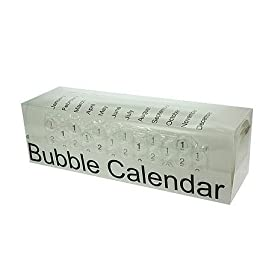 2012 Bubble Calendar a Poster Sized Calendar with a Bubble to Pop Everyday!