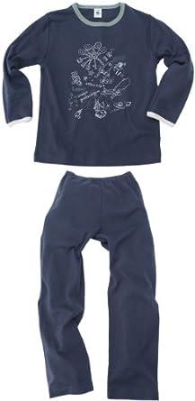 Petit Bateau Panade - Pyjama - Garçon - Bleu (Littoral) - 2 Ans