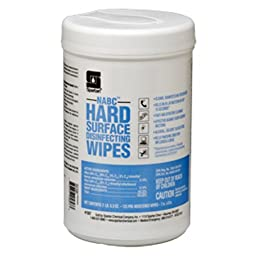 NABC Hard Surface Disinfecting Wipes Wipe # 108706, 6-125/ per canister -(1 CASE)