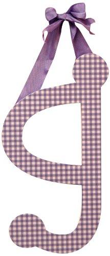 "My Baby Sam 9"" Lavender Gingham Hanging Letter, G - 1"